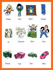 Adjectives Pictures Describing Vocabulary