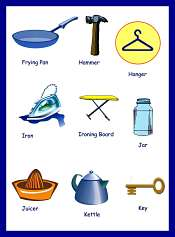Household Items Vocabulary With Pictures