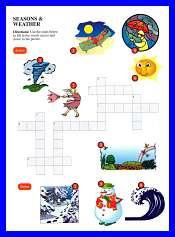 Seasons and Weather Crossword Kids