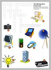 Tecnologia y Comunicacion Crucigrama en Ingles
