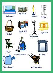 Household Items Picture Vocabulary