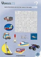 Vehicles WordSearch For Kids