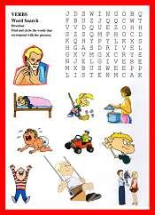 Verbos Sopa de Letras en Ingles
