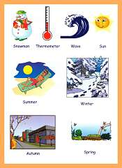 Four Seasons Vocabulary For Kids