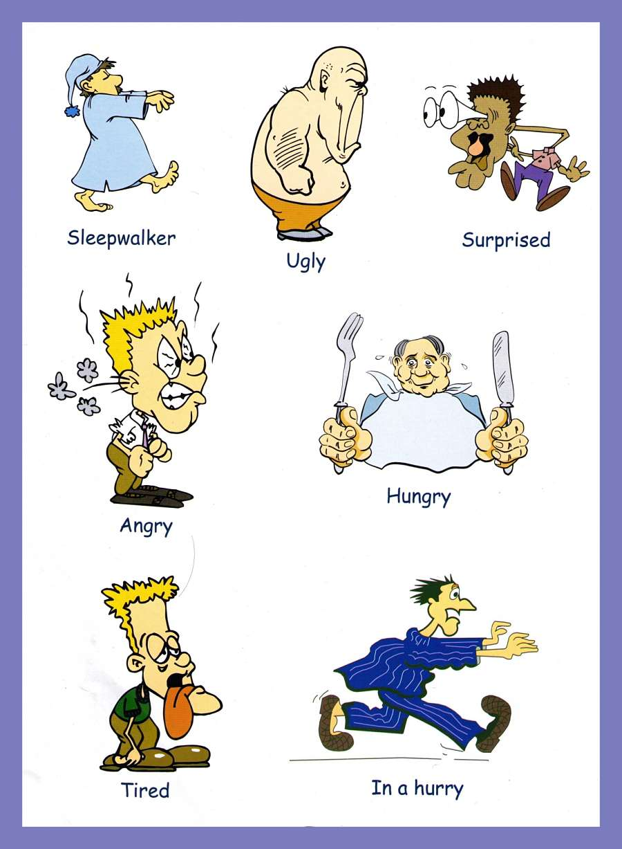 Adjectives Pictures - Download and Print