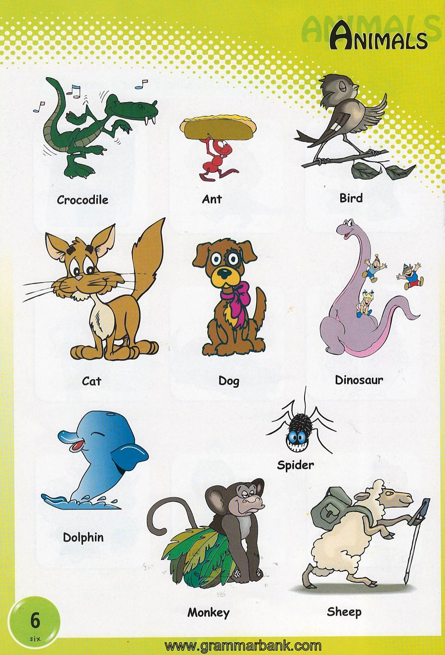 vocabulary about animals testing pdf