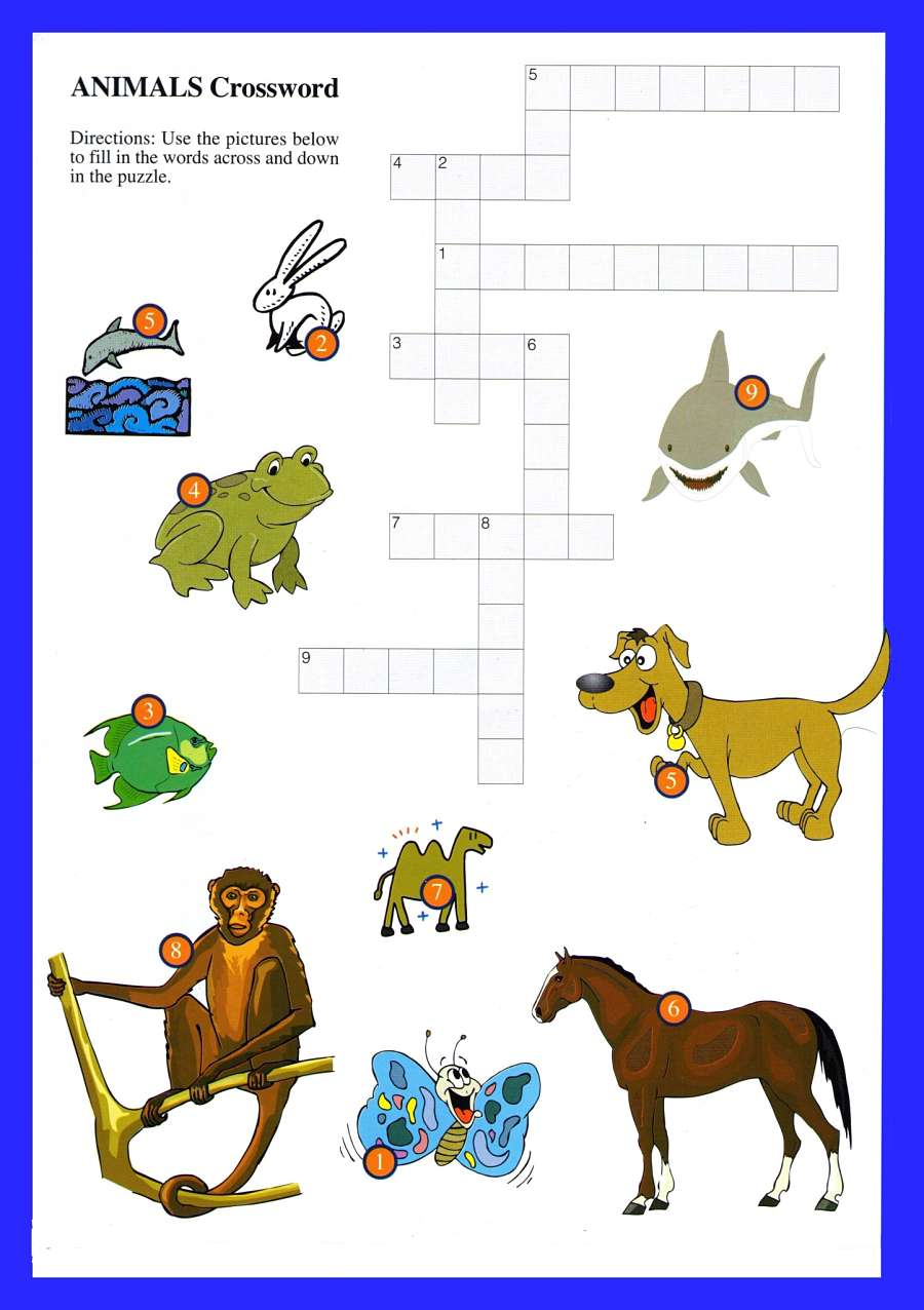 Animals Word Games For Kids Printable