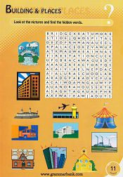 Buildings and Places Wordsearch