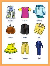 Clothing and Accessories Children Vocabulary