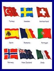 vocabulaire des pays et drapeaux 2