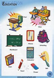 Education Vocabulary For Kids