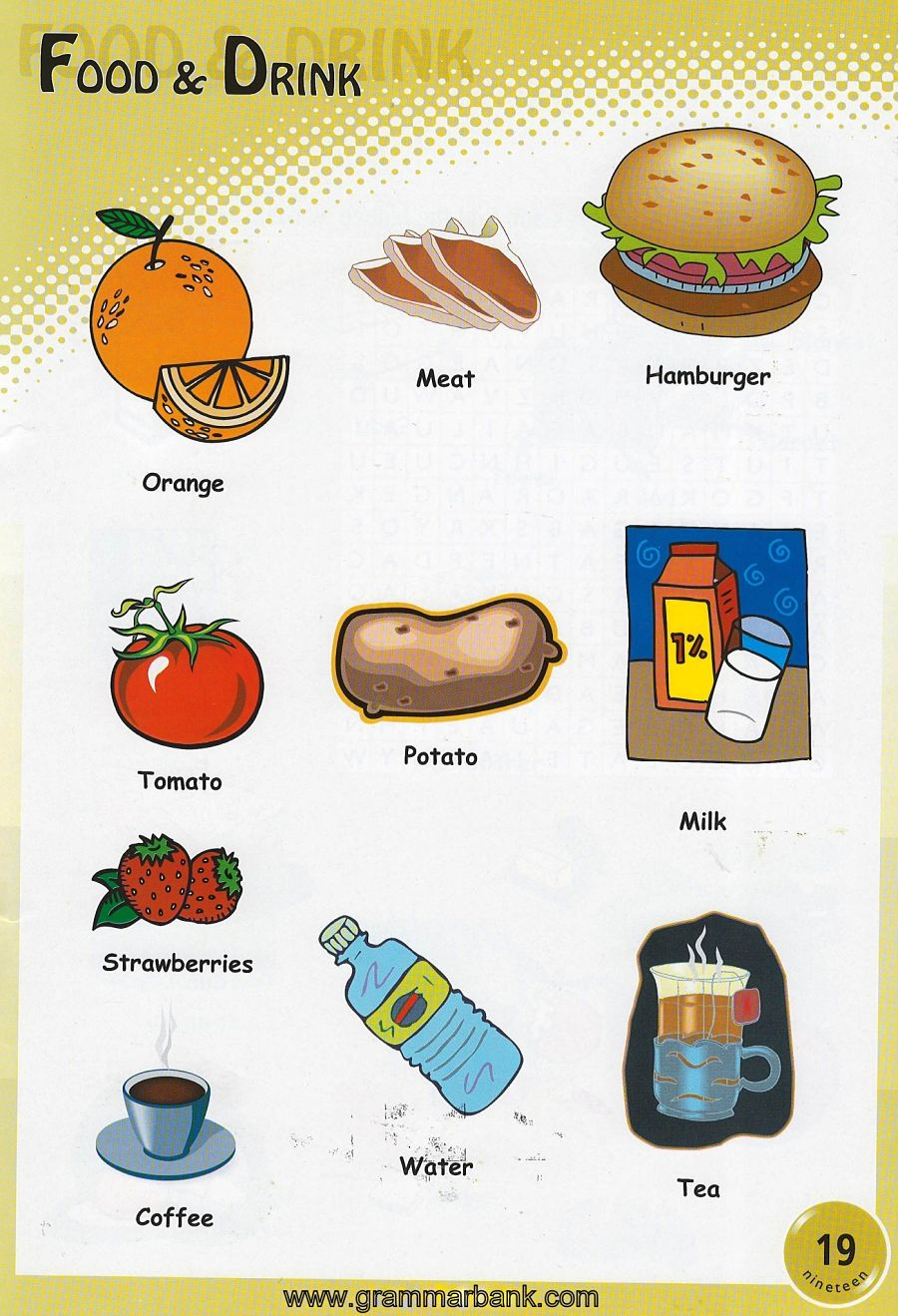 food drinks vocabulary grammarbank drink