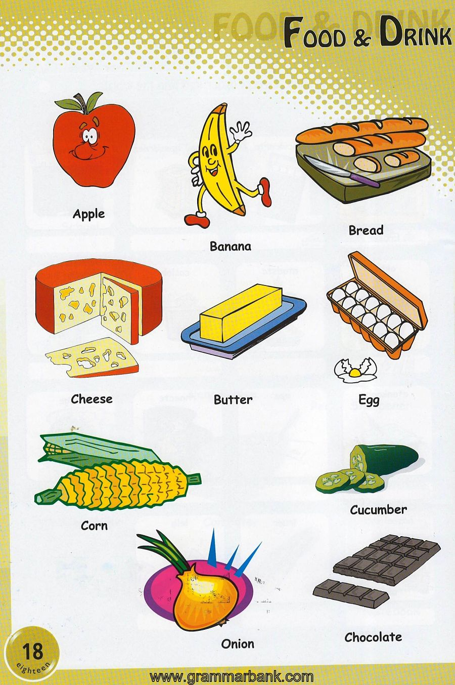 Food And Drinks Picture Vocabulary Grammarbank