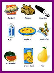 Foods and Drinks Children Vocabulary