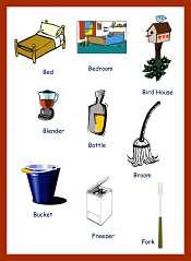 Articulos de uso Domestico en Ingles