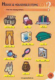Puzzle de Vocabulaire Anglais Equipements de la Maison