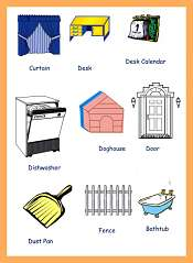 House Tools Picture Vocabulary For Kids