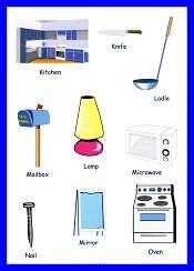 Household Items Vocabulary Teaching