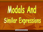 Modals and Similar Expressions