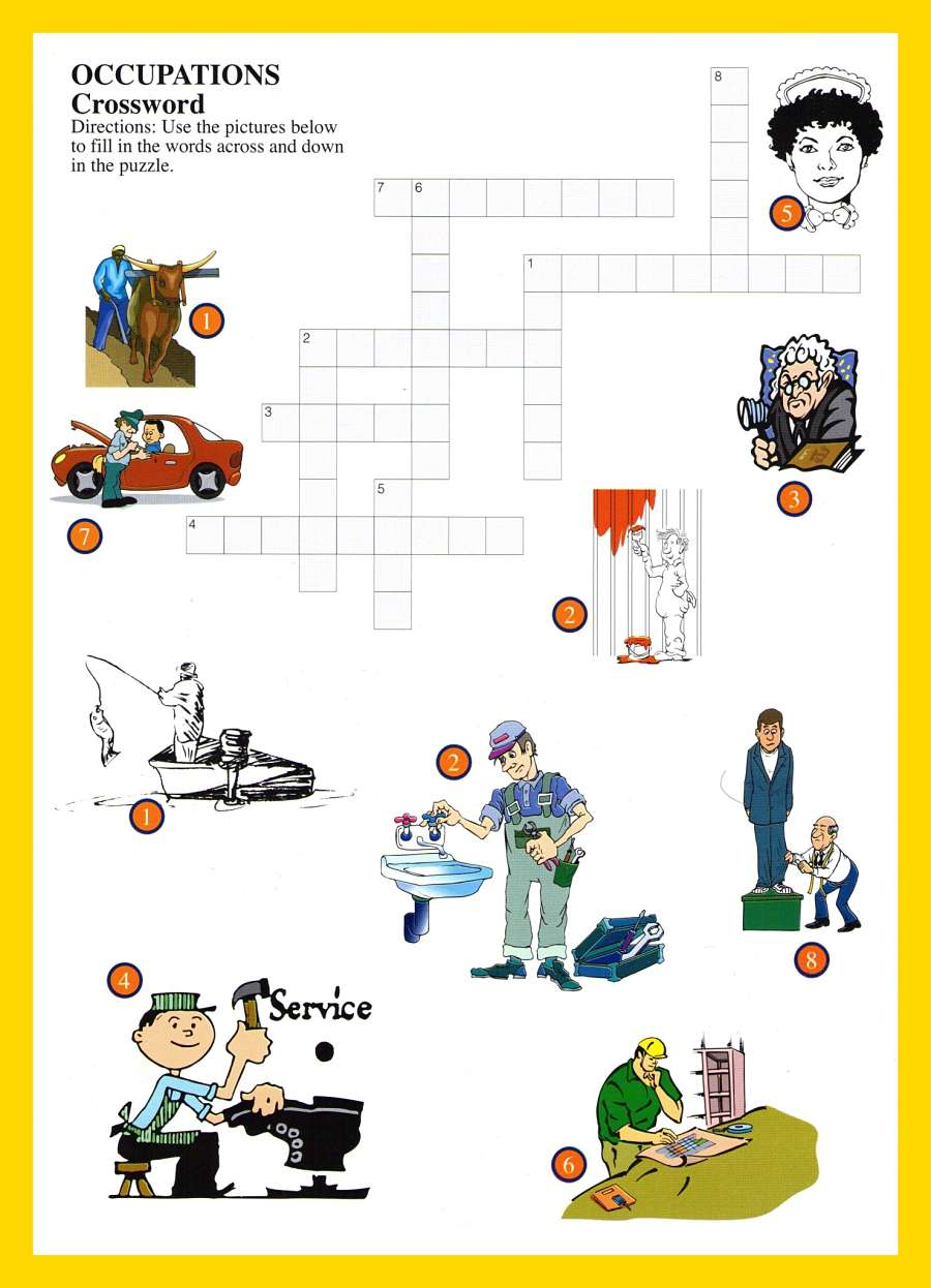 Occupations Word Games For Kids