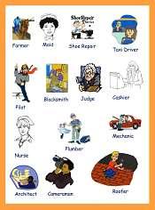 Vocabulaire des Les Metiers en Anglais