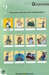 Occupations words puzzle for kids