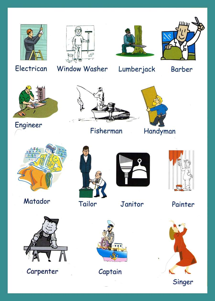 Occupations vocabulary with