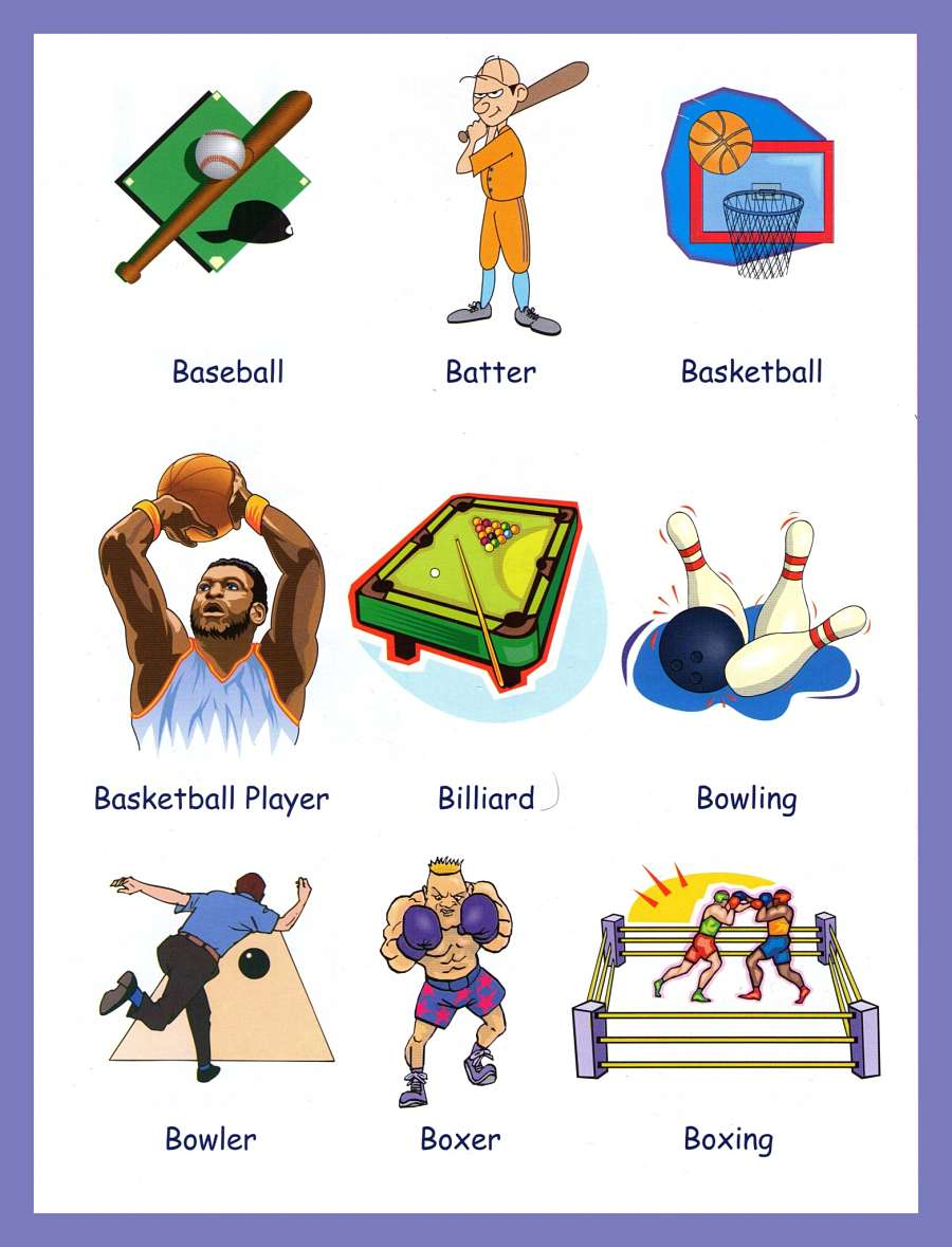 Sports Vocabulary With Pictures