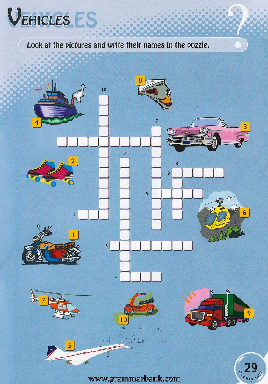 Vehicles Word Games For Kids