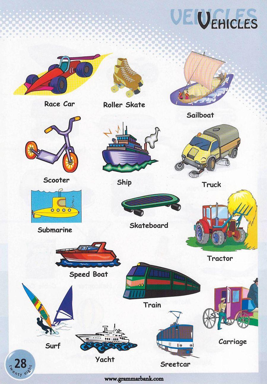 Tracks For Vehicles >> Vehicle Names / Transportation Vocabulary