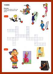 Verbs CrossWord ESL