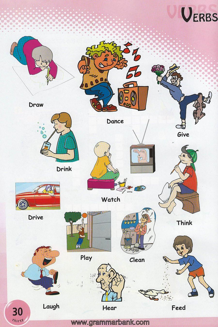 Verbs Pictures on Worksheets For Teachers