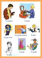 Verbs Pictures Kindergarten
