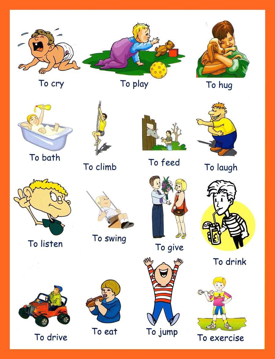 verbs pictures to and print verbs pictures preschoolers