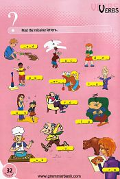 Verbs Kids Word Puzzle