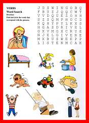 Verbs WordSearch For ESL Kids