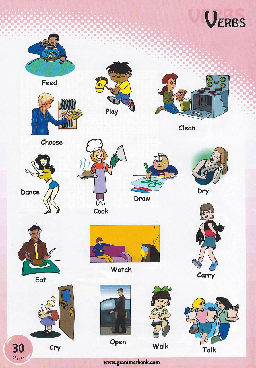 verbs pictures to and print verbs pictures preschoolers 8