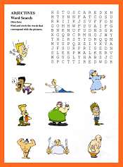 Adjectives WordSearch Game