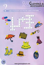 Clothing and Accessories crossword for kids