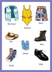 Ingilizce Giysi ve Aksesuar