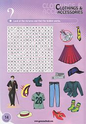 Clothing and Accessories WordSearch For Kids 2