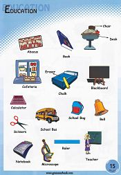 Education Related Vocabulary For Kids