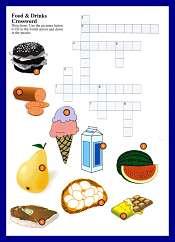 Alimentos y Bebidas Sopa de Letras en Ingles