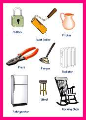 Household Items Color Pictures For Kids