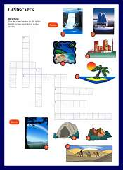 Landscape Vocabulary Crossword