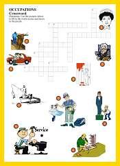Ocupaciones Crucigrama en Ingles