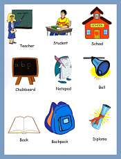 Classroom Vocabulary Cards For Kids