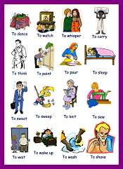 Verbs For Kindergarten Kids