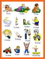 Verbs Pictures Preschoolers